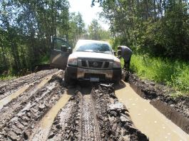 Stuck in the Peace River forest!